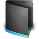 Black, Folder, Generic Icon