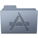 Applications, Folder, Graphite Icon