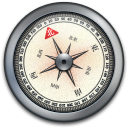 Compass, Iphone, Silver Icon