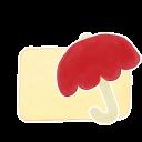 Ak, Folder, Umbrella, Vanilla Icon