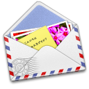 Airmail, Photo, Stamp Icon