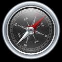 Black, Compass Icon