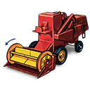 Combine, Harvester, Movement, With Icon