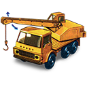 Crane, Dodge, Movement, Truck, With Icon