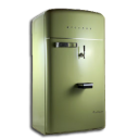 Fridge, Green, Vintage Icon