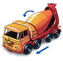 Concrete, Foden, Movement, Truck, With Icon