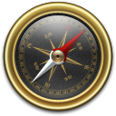Compass, Goldxblack Icon