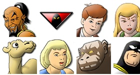 Hanna Barbera's Heroes Icons