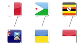 iPhone Map Flag Icons