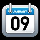 Blue, Calendar Icon