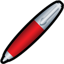 Pen, Red Icon