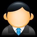 Blue, Executive, User Icon