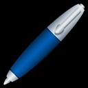 Blue, Pen Icon