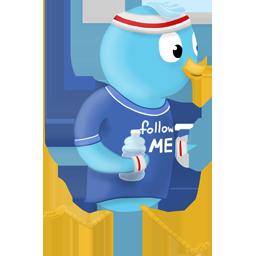 Follow, Jogger, Me, Spring Icon