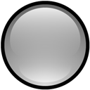 Blank, Button, Gray Icon