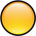 Blank, Button, Yellow Icon