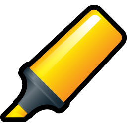Highlighter, Yellow Icon