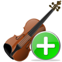 Add, Violin Icon