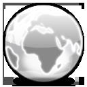Glass, Globe Icon