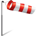 Flag, Storm, Wind Icon