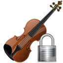 Lock, Violin Icon