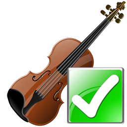 Ok, Violin Icon