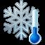 Snowflake, Thermometer Icon