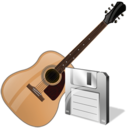 Guitar, Save Icon