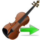 Next, Violin Icon