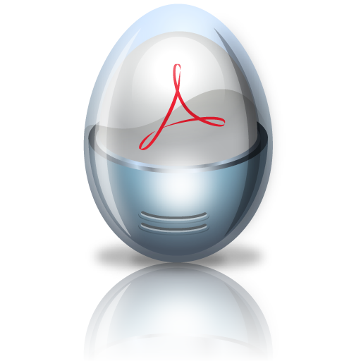 Acrobat, Adobe, Egg Icon