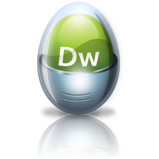 Adobe, Dreamweaver, Egg Icon