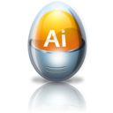 Adobe, Egg, Illustrator Icon