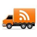 Rss, Social, Truck Icon