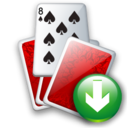 Cards, Down Icon