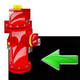 Back, Fire, Plug Icon