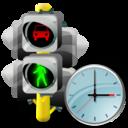 Clock, Lights, Traffic Icon