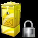 Box, Letter, Lock Icon