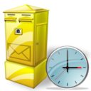 Box, Clock, Letter Icon