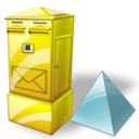 Box, Letter, Level Icon
