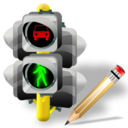 Lights, Traffic, Write Icon