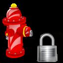 Fire, Lock, Plug Icon