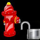 Fire, Plug, Unlock Icon