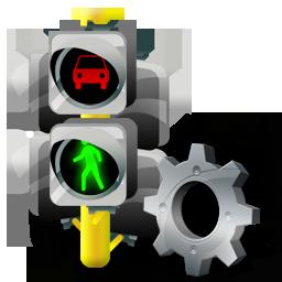 Config, Lights, Traffic Icon