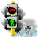 Lights, Search, Traffic Icon