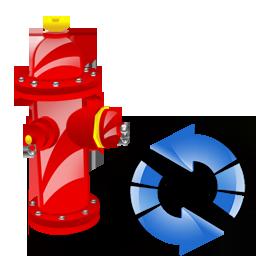 Fire, Plug, Refresh Icon