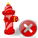 Close, Fire, Plug Icon
