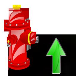 Fire, Plug, Up Icon