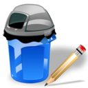 Can, Garbage, Write Icon