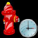 Clock, Fire, Plug Icon