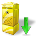 Box, Down, Letter Icon